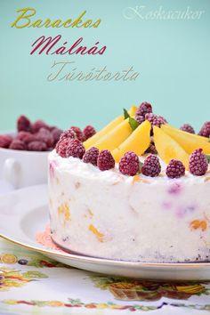 Koskacukor: Barackos-málnás túrótorta Paleo Dessert, Cake Recipes, Cheesecake, Cakes, Food, Easy Cake Recipes, Cake Makers, Cheesecakes, Kuchen