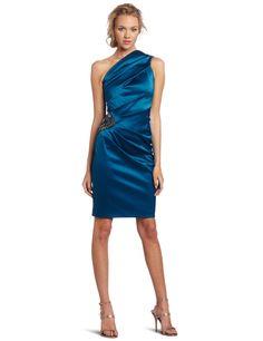 Eliza J Women's Tea One Shoulder Satin Dress