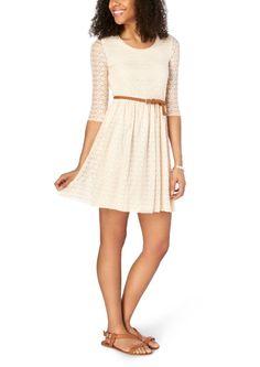 Belted Lace Dress | Skater | rue21
