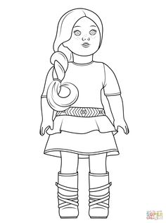 coloring pages to print free coloring pages 18 inch doll doll stuff american girl dolls colouring google search