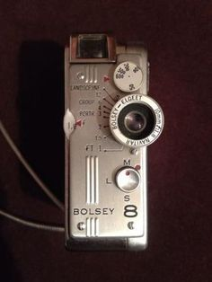 Immaculate Vintage Bosley 8 Subminiture Movie/Still Camera w/Box (11/23/2014)