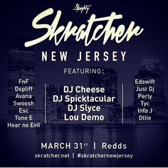 """ALMIGHTY SKRATCHERS UNITE!!! #djlife #djperly #dj #scratching #cutz #nj #turntablism #turntablists #turntablist #femaleturntablist #femaledj #vestax #numark #portablescratching #fun #raidenfader #Repost @dj_fnf with @repostapp.  Skratcher New Jersey  Proudly presents its first Skratcher """"The Dope List"""" sessions and a portable skratch battle open to all skill levels so come and show us your portable set up and skills! For those that don't own a portable we will provide the equipment for you…"""