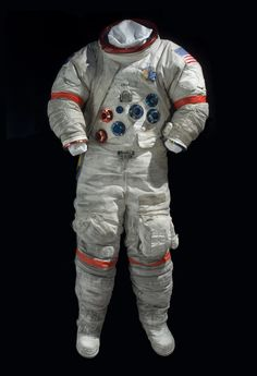 This was the last spacesuit worn on the Moon. It was worn by astronaut Eugene Cernan, Commander of the Apollo 17 lunar landing mission that launched 40 years ago today.