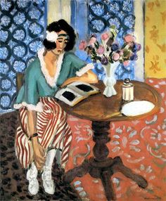 """books0977: """" Woman Reading at a Small Table (c.1923). Henri Matisse (French…"""