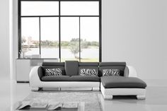 Furniture : Stylish Sofa With The Elegant Display Noa Divan By Longhi With White And Grey Sofa And Zebra Pillows Pattern For Modern Interior Layout Ideas And Colorful Sofa Design Stylish Grey Sofa with Elegant Display Noa Divan By Longhi Creative Sofa Table Ideas. Sofas. Convertible Sofa.