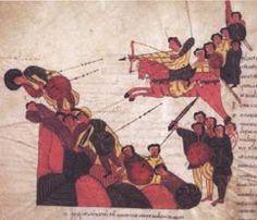 Biblia de San Isidoro de Leon, Biblioteca, Colegiata S. Isidoro, Leon, 960 - Battle of Mount Gilboa