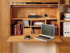 Folding Desk Hutch - Home Furniture Design Fold Out Desk, Folding Desk, Desk Light, Lamp Light, Almirah Designs, Home Furniture, Furniture Design, Desk Hutch, Study Desk