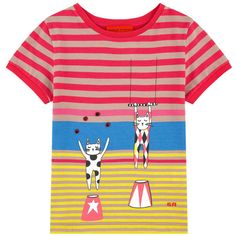 Sonia Rykiel Girls Circus Cat Printed T-shirt | New Collection