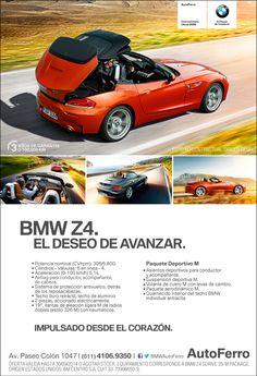 """#BMW Z4 """"El deseo de avanzar"""" IMPACTANTE! Encontralo en AutoFerro Av Paseo Colón 1047 www.autoferro.com"""