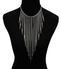 Spike tassel necklace