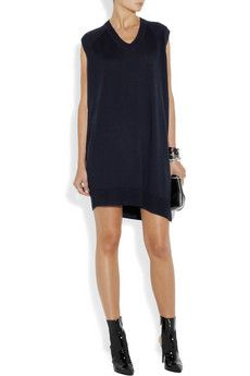 boots with easy pull over jersey dress