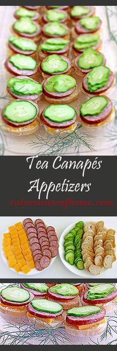 Tea Canapés Appetizers http://valyastasteofhome.com/tea-canapes-appetizers