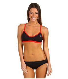 TYR Durafast™ Elite Solid Crossfit Workout Bikini Black/Red - Zappos.com - i love an athletic bikini