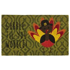 Gobble 'Til You Wobble Doormat