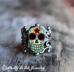 Day of the Dead Filigree Sugar Skull