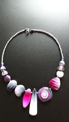 Polymer clay necklace by Mabcrea.