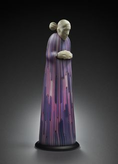 Ross Richmond Woman in a Lilac Robe, 2015 22 x 8 x 8 inches Blown hot sculpted glass Available