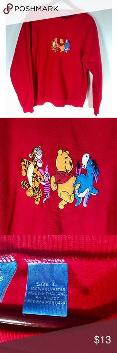 Disney Winnie the Pooh Vintage Sweatshirt This cute vintage Winnie the Pooh sweatshirt is adorable! It has some wear as you can see in the photo but is still in good condition! Disney Tops Sweatshirts & Hoodies