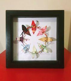 Origami Butterfly, Butterfly Wall Art, Japanese Patterns, Japanese Design, Origami Wall Art, Japanese Wall Art, Origami Gifts, Japanese Origami, Paper Wall Art