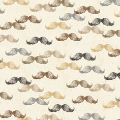 Mustaches on Cream Fabric /  A Close Shave Fabric / Quilting Treasures 24429 Mustache Material / Fabric By The Yard & Fat Quarters by SewWhatQuiltShop on Etsy
