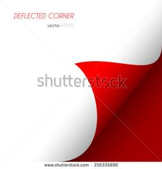 Page curled corner. Easy to edit vector image - stock vector