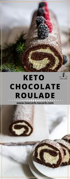Enjoy this smooth and soft Keto Yule Log Roulade, perfect for your festivity table. Christmas or Thanksgiving, New Year or any party.
