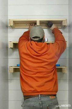 bathroom shelves how to build floating shelves for extra bathroom storage Bathroom Storage Over Toilet, Floating Shelves Bathroom, Bathroom Towels, Master Bathroom, Bathroom Cabinets, Toilet Storage, Downstairs Bathroom, Building Floating Shelves, Bathroom Beadboard
