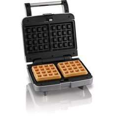 Farberware Removable Plate Waffle Maker, 2 Slice, Silver, Nonstick for sale online Best Waffle Maker, Belgian Waffle Maker, Belgian Waffles, Belgian Style, Cooking Equipment, Waffle Iron, Plates, Silver, Walmart