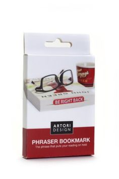 ARTORI Design Decorative Word BookMark Novelty Gift -Be Right Back-