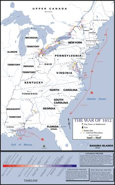 Map Of The Theatres Of The War Of 1812 1815 Louisiana Really Became Part Of