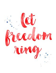 Let freedom ring. Fourth Of July Quotes, Happy Fourth Of July, July 4th, Mantra, Independance Day, Happy Birthday America, Let Freedom Ring, 4th Of July Celebration, Patriotic Party