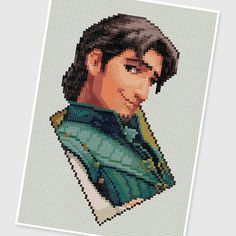 PDF Cross Stitch pattern  0031.Flynn rider  Tangled