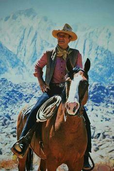 Wayne - I've ridden so many horses, I can't feel my nuts anymore. John Wayne Quotes, John Wayne Movies, Iowa, Cowboy Films, Actor John, Western Movies, Le Far West, Country Boys, Old West
