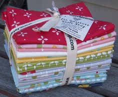 Oh look how stinkin' cute the fat quarter bundles for 'Wallflowers' designed by Allison Harris of Cluck Cluck Sew for Windham Fabrics turn out... YOU know you want one ;-)