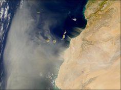 Calima. Foto de la NASA