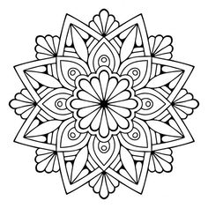 – Pages to Colour - Malvorlagen Mandala Mandala Design, Mandala Floral, Mandala Pattern, Zentangle Patterns, Embroidery Patterns, Zentangles, Doodle Patterns, Mandala Art Lesson, Mandala Drawing