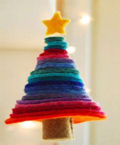DIY Christmas: Alberellino di Natale handmade in feltro: bellooooo!