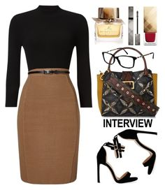 """Phase Eight"" by thestyleartisan ❤ liked on Polyvore featuring Phase Eight, Burberry, jobinterview and 60secondstyle"