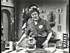 Julia Child The French Chef- Queen of Sheba Cake -- Happy birthday Julia! Let's have a cake and champs party. :)