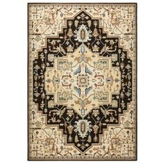 Rizzy Home Bennington Double Pointed Area Rug 9 Ft. 10 In. X 12 Ft. 6 In. Black, Brown