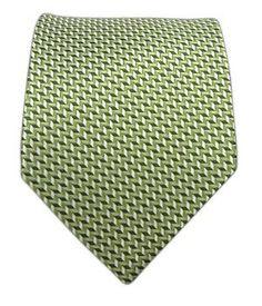 100% Silk Woven Green Erudite Tie $15.99