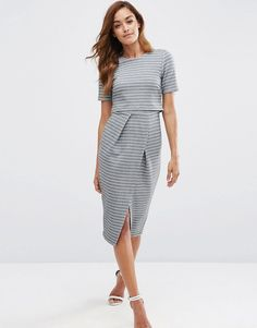 ASOS+Double+Layer+Wiggle+Dress+in+Stripe