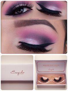 Pretty purple! Lashes are #ESQIDO Voila Lash mink lashes <3