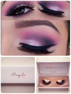 Pretty purple! Lashes are #ESQIDO Voila Lash mink lashes <3