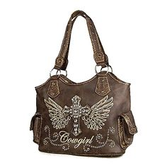 Western Purses | Western Style Fashion Cross Eagle Cowgirl Style Shoulder Handbag Purse ...