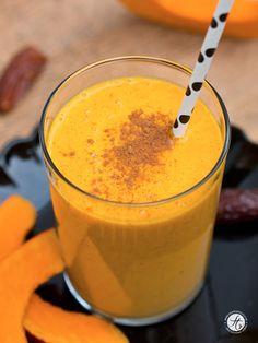 Smoothie-Montag 14: Kürbis-Banane-Dattel Smoothie mit Zimt & Ingwer – feiertäglich…das schöne Leben