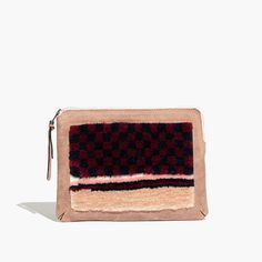 Known for her muted palettes, handcrafted touch and downtown appeal, NYC-based designer Rachel Comey has a cult following worldwide, and she's a favorite here at Madewell. This zip-top clutch is large enough to hold a tablet—and combines soft suede with plush embroidery.