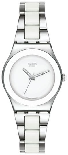 ** My Swatch!!**     Swatch Women's Irony YLS141G Silver Stainless-Steel Quartz Watch #tarazz #swatch #watch