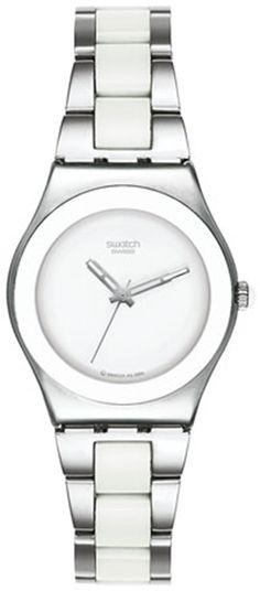 ** My Swatch!!**     Swatch Women's Irony YLS141G Silver Stainless-Steel Quartz Watch #tarazz #swatch #watch