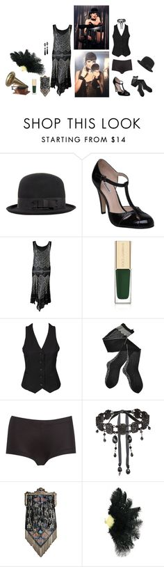 """Sally Bowles"" by lydiadeaddoll ❤ liked on Polyvore featuring CABARET, ASOS, Dune, Dolce&Gabbana, Neon Hart, Trasparenze, Linea by Maidenform and Tarina Tarantino"